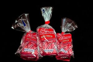 Lot Of 3 Bobs Sweet Stripes Red Hots Cinnamon Soft Candy 5 Oz Each