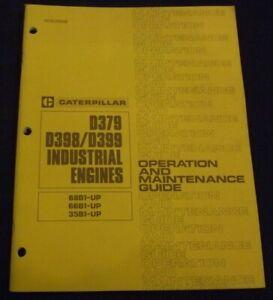 CAT CATERPILLAR D379 D398 D399 ENGINE OPERATION MAINTENANCE MANUAL 35B 66B 68B