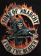 FX sons of Anarchy Road Gear Fear Reaper Biker Patch Graphic Shirt Size M NWT