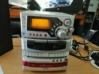 Goodmans 4241S Music system, CD, double cassette/tape, Aux, CD TUner (921)