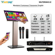 4TB HDD 87K Chinese English Song,22'' Touch screen ECHO karaoke player,Download