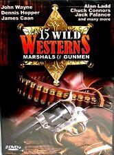 15 Wild Westerns: Marshals & Gunmen NEW! 2 DVDS John Wayne, Dennis Hopper, Cleef