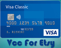 VCC for ETSY verification Virtual Credit Card for etsy store Exp 4y worldwide