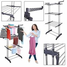 Extra Foldable Clothes Airer Indoor Outdoor Laundry Dryer Rack Towel Hanger Line