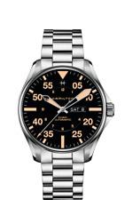 New Hamilton Khaki Aviation Pilot Auto ST Steel Black Dial Men's Watch H64725131