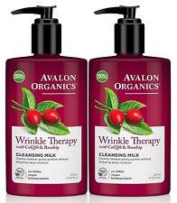 Avalon Organique Ride thérapie avec CoQ10 & Cynorrhodon démaquillage lait (