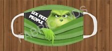 Funny Grinch Six Feet Face Mask Cover Kids & Adult Poly Cotton Cloth Protection