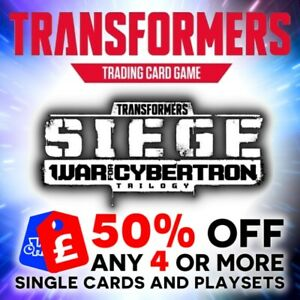 TRANSFORMERS TCG WAVE 3 BATTLE CARDS SIEGE WAR FOR CYBERTRON SINGLES + PLAYSETS