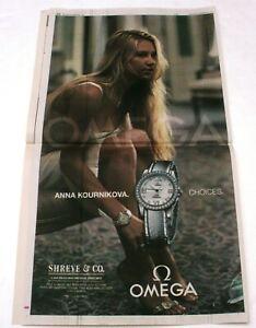2004 Anna Kournikova OMEGA Watch Full Page News Ad / Poster 12/22/04