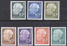 Germany 1956 30pf - 90pf Heuss Scott 755-761 MNH Cat $38