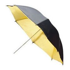 33'' Black Gold Photo Studio Flash Light Reflector Diffuser Soft Umbrella 83cm