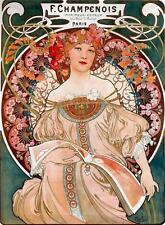 Alphonse Mucha LARGE A3 F Champenois Imprimeur-Editeur Art Nouveau Poster Print
