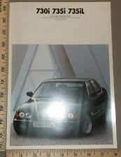 1990 BMW 730i 735i 735iL Series Color and Upholstery Brochure Original English