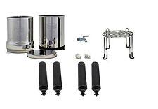 Big Berkey Water Purifier 4 Black Filters Plus Stainless Steel Stand and Spigot