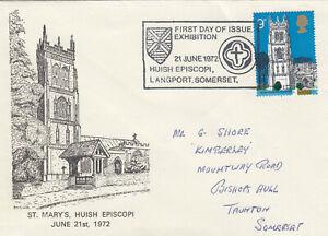 (88131) CLEARANCE GB St Marys Huish Episcopi FDC Churches Langport Somerset 1972