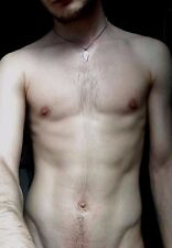 Shirtless Male Beefcake Hairy Chest After Shower Close Up PHOTO 4X6 D664