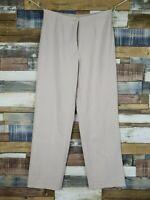 Artigiano Italy Ladies Beige Wool Blend Straight Trousers Size UK 10