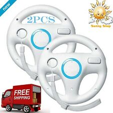 Mario Kart Racing Wheel for Wii White 2 Pieces New