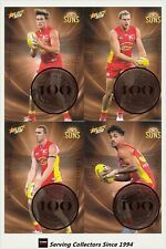 2019 SELECT AFL FOOTY STARS MILESTONE TRADING CARD TEAM SET(MG41-44)-G.COAST