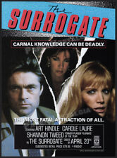 THE SURROGATE__Original 1988 Trade print AD / promo__CAROLE LAURE__SHANNON TWEED