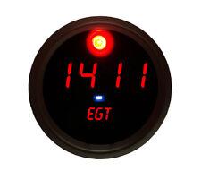 EGT Exhaust Gas Temperature universal Pyrometer Gauge Red w/ Black Bezel!