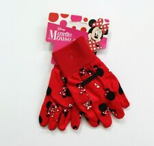 Disney Kids Minnie Mouse Print Gardening Gloves - Red