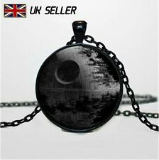Star Wars Movie Death Star Glass Necklace Pendant Rogue One Novelty Gift