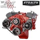 Black Small Block Chevy Serpentine Conversion Kit - Power Steering Sbc 350 400
