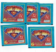SUPERMAN The Animated Series Stickers -  (Fleer/SkyBox 1996) - lot of 5 packs
