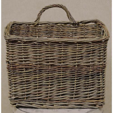 Primitive Country Rustic Large Willow Wall Basket/ Wall Pocket Farmhouse
