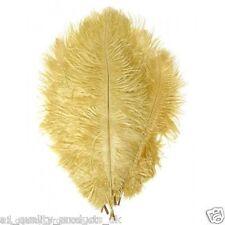 "20 X Grande Avestruz Plumas, de 20 "" -30"", Oro, 51-76cm Largo, 100% Natural teñido BNIB"