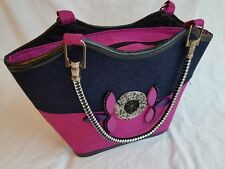 African Basket / Handbag / Tote, Masai Beads, Handmade In Kenya BLACK & PURPLE