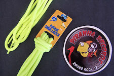 "Neon Yellow Thin Round 45"" x (1/8""-3/8"") JN Shoelaces Shoe Strings Piranha"