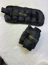 Golds Gym - Adjustable Ankle Weights, 5 Lb Each Wrist Leg Arm Running Exercise