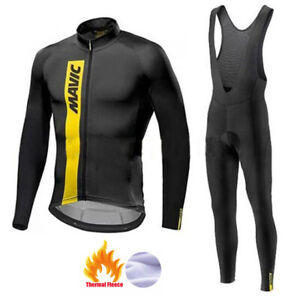 MAVIC Cycling Clothing Suit Winter Thermal Fleece Cycling Jersey Set Racing