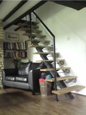Wrought Iron , Glass and Oak staircase , made in the UK ( Hand made )
