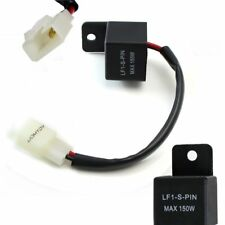 2-Pin Electronic LED Flasher Relay FIX Hyper Flash Motorcycle Turn Signal Bulbs