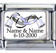 WEDDING BELLS NAMES UBERRY 9MM ITALIAN PHOTO CHARM