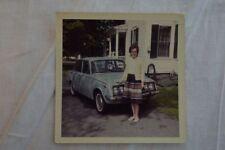 Vintage Car Photo Woman w/ 1968 Toyota Corona 849
