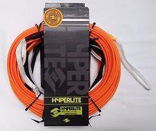HYPERLITE 80 Ft Silicone Orange Flat Line Snag Free Floating Wakeboard Rope