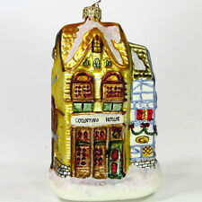 "Department 56 Counting House & Silas Thimbleton Barrister 5.75"" Glass Ornament"