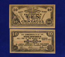 FILIPPINE Commonwealth of the Philippines 10 Centavos 1942 SERIES Emergency#B263