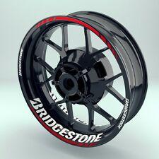 "Felgenaufkleber Felgenrandaufkleber Motorrad Wheelsticker ""Bridgestone"" Komplett"
