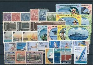 [G41957] Worldwide Boats Good lot Very Fine MNH stamps