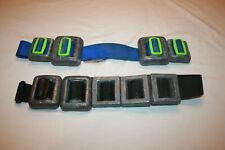 Lot 2 Vtg Diving Belts around 13.6 & 15.6 lb Trident Scuba Weighted Belt