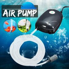Quiet Aquarium Air Pump Marine Fish Tank Single/Twin Outlet Valve &