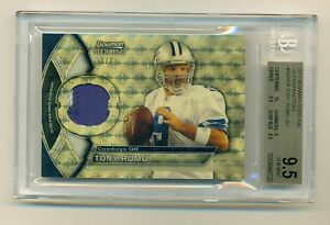 TONY ROMO 2011 Bowman Sterling #1/1 Superfractor PATCH BGS 9.5 Gem Mint COWBOYS