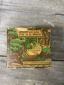 Vintage Ammo. Apache Air Rifle Ammo Cartridge Box .250 Caliber Box Only