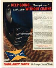 1936 Goodyear Tires Snow Mud  Sure Grip Vtg Print Ad