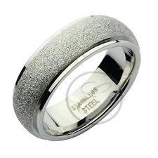 Acero Inoxidable Plata Sparkle Alianza 7mm